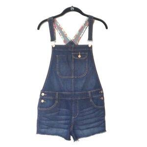 Arizona Jean's Short Overalls with Lace Trim Sz M